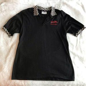 Corvette short sleeve collar shirt